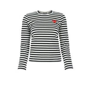 COMME DES GARCONS PLAY条纹T恤