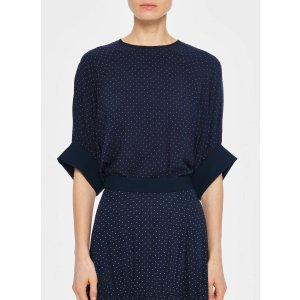 TibiPindot Shirred Sleeve Top