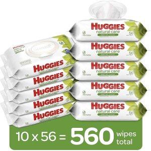 $16.12(原价$19.97)Huggies 好奇天然呵护无香婴儿湿巾560抽 含99%纯水
