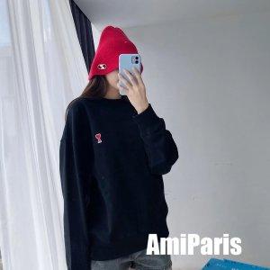 AMI ALEXANDRE MATTIUSSI3色可选!黑色小桃心卫衣