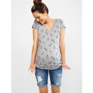 Motherhood MaternityExtra $50 Off on $100Secret Fit Belly Roll Hem Destructed Maternity ShortsShop Maternity Fashion & Basics Online