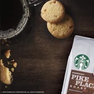$18.99 Pike Place 咖啡佳配星巴克 搭配咖啡小饼干 海盐焦糖口味 5 Oz. 4盒装
