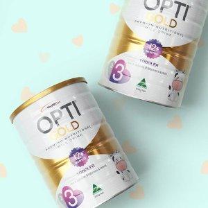 $16.99 包邮手慢无:OPTI GOLD 金装婴幼儿奶粉 123段齐全