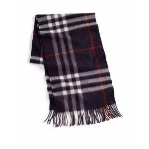 Burberry满$400减$100,最高减$500羊绒围巾