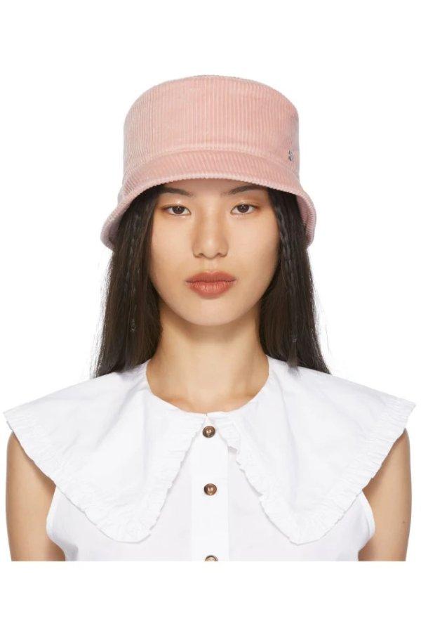 Pink Axel Corduroy 渔夫帽