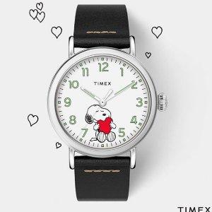 7.5折+免邮 简约女表$48最后一天:Timex 天美时手表特卖 封面史努比$97 明星都爱的气质感