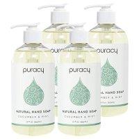 Puracy 黄瓜薄荷味凝胶洗手液4件装