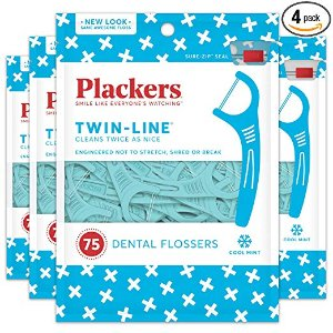 $8.63Plackers Twin-Line Dental Floss Picks, 75 count (Pack of 4)