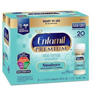 $5.99 (原价$9.99)Enfamil美赞臣 新生儿非转基因液体奶,6瓶