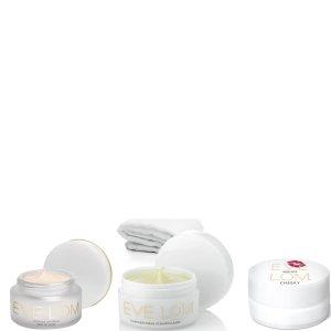 新低免邮到手¥573(原价值¥1299)Eve Lom 瞬间提亮组合;发光面霜+卸妆膏+唇膏