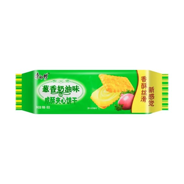康师傅 咸酥夹心饼干 葱香奶油味 80g