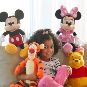 买1件第2件$5+新用户包邮最后一天:迪士尼官网 毛绒玩偶今年罕见优惠 半米高的玩偶也参加
