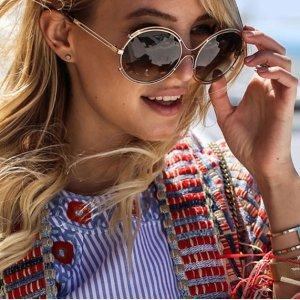 3.7折 + 额外8.3折 到手低至$103折扣升级:Chloe 太阳镜热卖 茶色圆形墨镜补货
