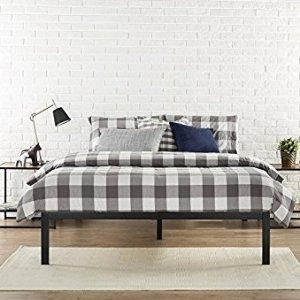 $79(原价$200)Zinus Studio 14英寸现代简约钢制床架 Queen 尺寸