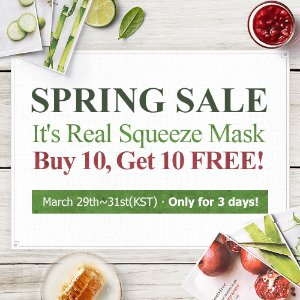Up To 50% Off + Buy 10 Get 10 FreeSpring Sale @ innisfree