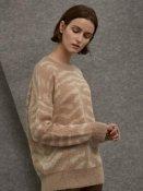 Kid Mohair Zebra Knit Beige | W Concept