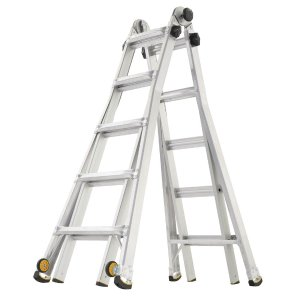 $99.88Gorilla Ladders 22 ft. Reach MPX Aluminum Multi-Position Ladder with 375 lb. Load Capacity Type IAA Duty Rating