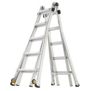 $99.88Gorilla 22 ft  铝合金伸缩折叠梯 可承重375磅