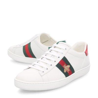 £445即可收杨幂同款Gucci小蜜蜂小白鞋强势补码 目前码数超全