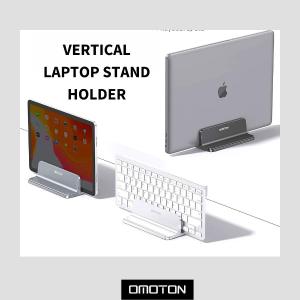 售价€24.99 节省空间小帮手Omoton 桌面电脑收纳底座 两个插槽 10mm至40mm可调节
