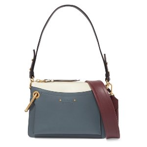ChloeRoy Day small leather and suede shoulder bag