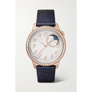 Vacheron ConstantinEgerie Automatic 37mm 18-karat pink gold and diamond watch