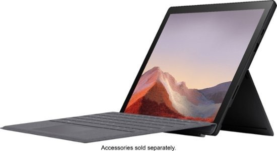 """- Surface Pro 7 - 12.3"""" Touch Screen - Intel Core i7 - 16GB Memory - 512GB Solid State Drive (Latest Model) - Matte Black"""