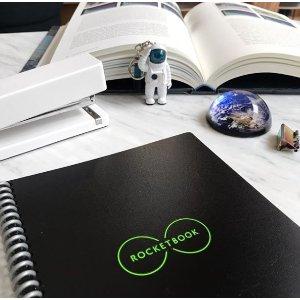 """$37.83包邮(原价$46) 4色选Rocketbook 可循环使用笔记本 手机与本子同步的""""黑科技"""""""