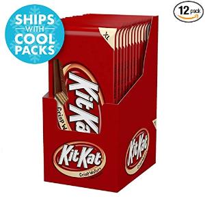 $11.45 (原价$19.08) 超大装 一包$0.9KIT KAT  脆心牛奶巧克力华夫饼 4.5oz 12包