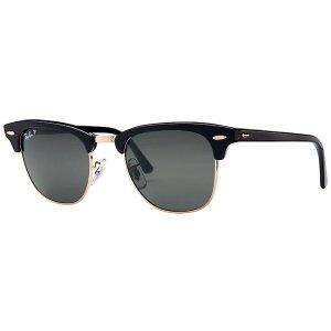 Ray-Ban3016 Men's Polarized Clubmaster Sunglasses
