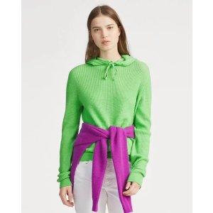 Ralph Lauren荧光色羊绒卫衣