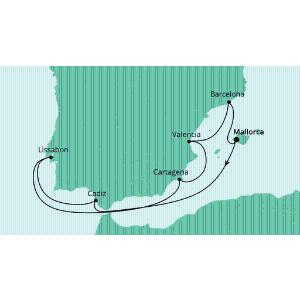 两人同行 838欧起爱达邮轮大海号(AIDAmar)9日游西班牙葡萄牙