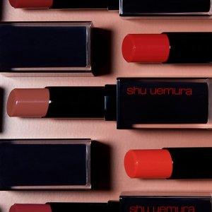 7折 $22.4收新口红Shu uemura 唇部彩妆促销 收新包装小黑方