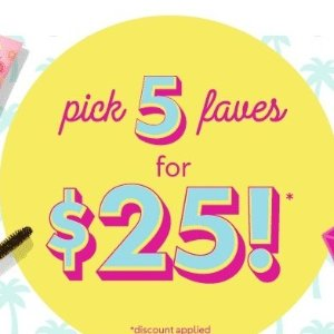 Pick 5 For $25Tarte Sugar Rush Sale