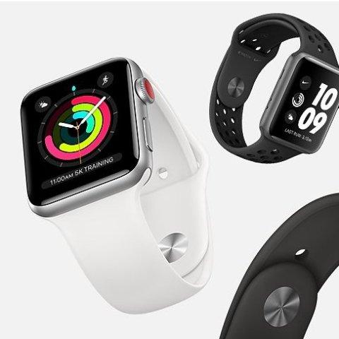 $169.99 超值运动追踪入门选择Apple Watch 第3代 GPS运动版, 双色可选 38mm款