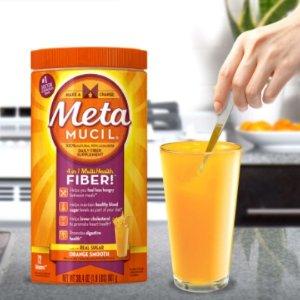 $12.32(原价$15.99)清肠排毒!Metamucil 吸油纤维素膳食纤维粉 香橙味 72次 425g