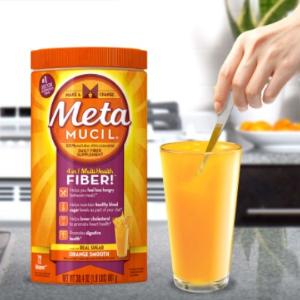 $14.21 72次 861g  香橙味清肠排毒!Metamucil 吸油纤维素膳食纤维粉 张韶涵推荐