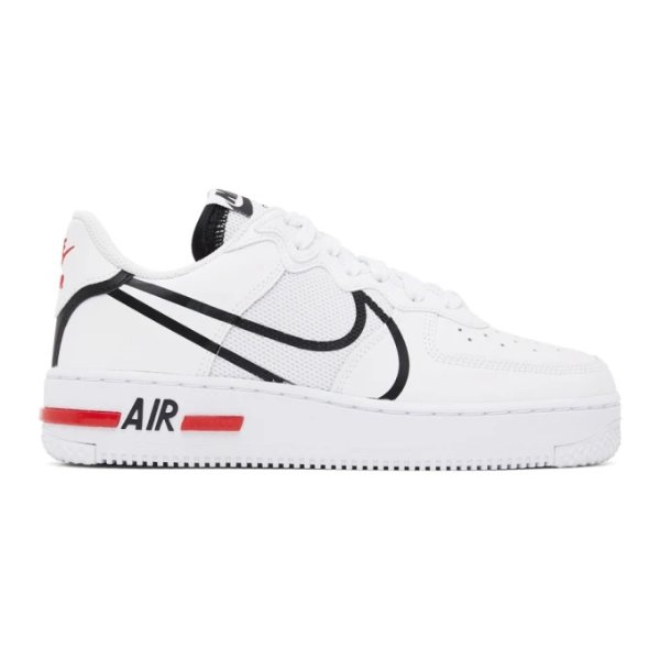 全白Air Force 1运动鞋