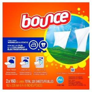 BounceFabric Softener Dryer Sheet Outdoor Fresh (2 x 160 ct.) - Sam's Club