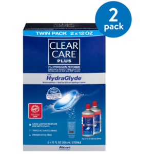 $30.52Clear Care Plus HydraGlyde Solution Twin Pack x 2 Pack