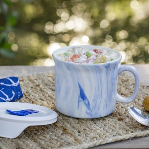 Corelle20-ounce Blue Marble Meal Mug™ with Lid
