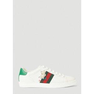 Gucci新款小猫咪小白鞋