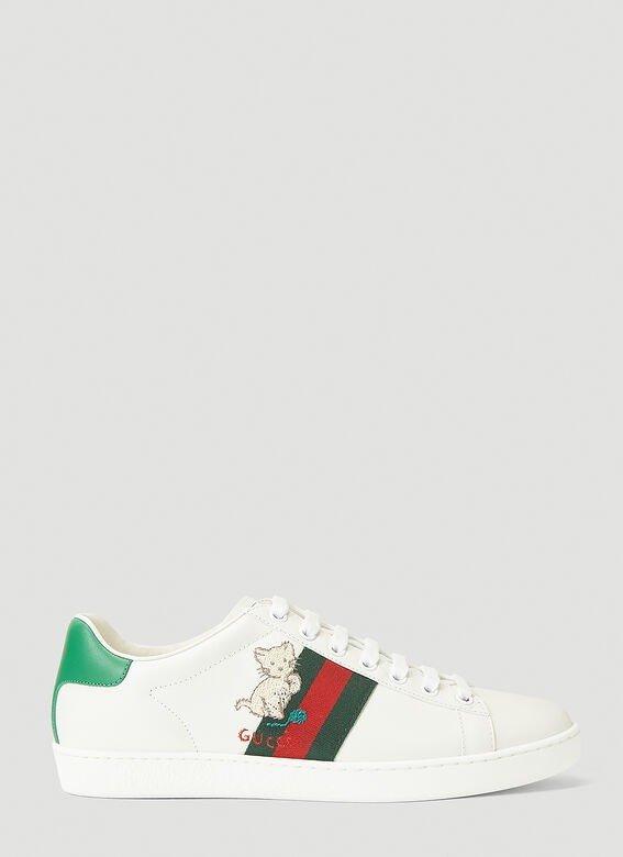 新款小猫咪小白鞋