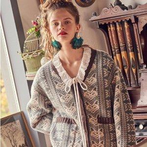 线上折扣+额外9折 封面€144W Concept 全场毛衣、针织衫大促 小香风、学院风都有