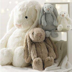 低至4折 断货飞快 邦尼兔€9.5Jellycat 闪现好折 软萌可爱过秋冬 收大热Bunny兔、独角兽等
