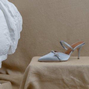 丁香紫、羽毛缎面高跟鞋少女心爆棚Malone Souliers SS21新款上架 意大利纯手工制作别具一格新设计