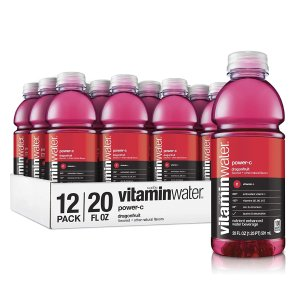 $11.2vitaminwater Electrolyte Enhanced water with Vitamins, Power-C Dragon Fruit, 20 Fluid Ounce (Pack of 12)