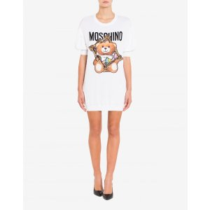 MoschinoCotton Dress Frame Teddy Bear - Dresses - Clothing - Women - Moschino | Moschino Official Online Shop