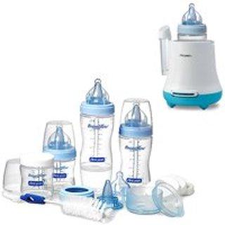 $29 立省$9.53The First Years 新生婴儿奶瓶套装 + 快速奶瓶加热器优惠套装