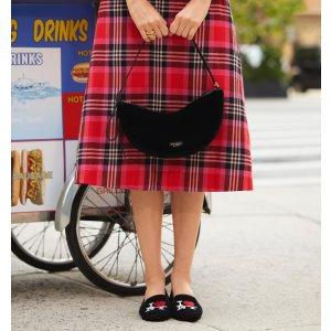 低至额外6折+免邮上新:kate spade 鞋履大促 收精致雏菊系带凉鞋、封面款乐福鞋
